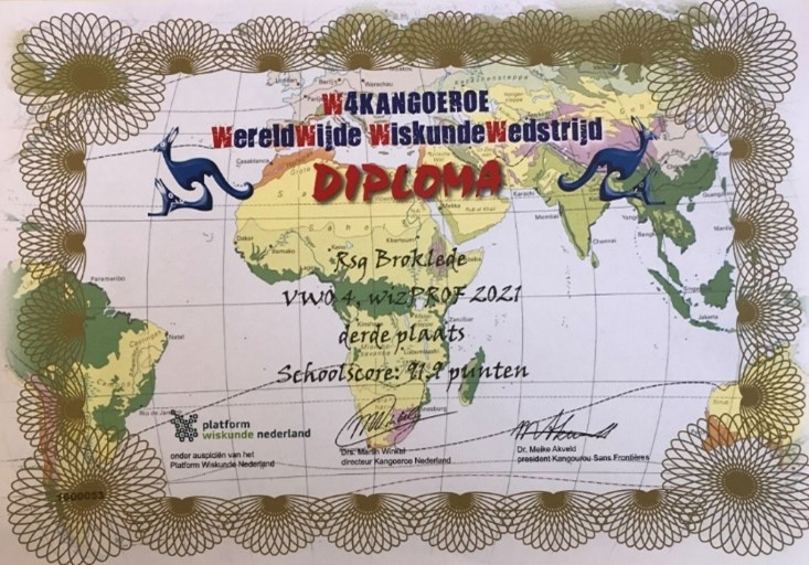 Landelijk succes wiskunde Kangoeroewedstrijd